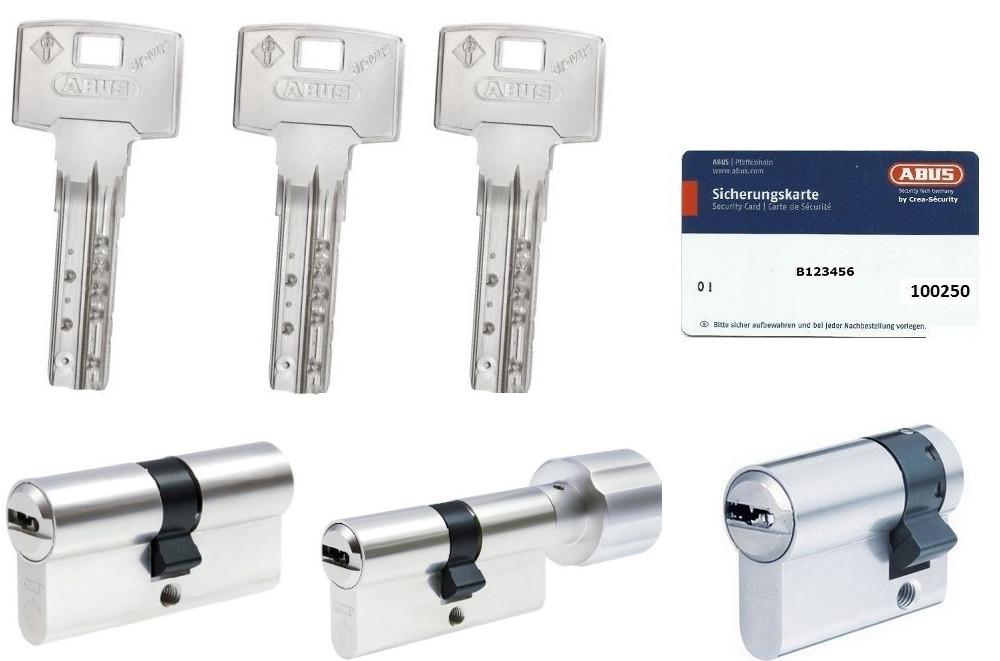 ABUS Bravus1000 Sicherheits-Schließzylinder Doppelzylinder 30//65mm Individual